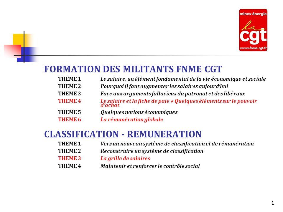FORMATION DES MILITANTS FNME CGT