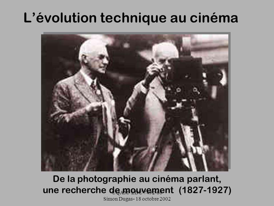 L'évolution technique au cinéma