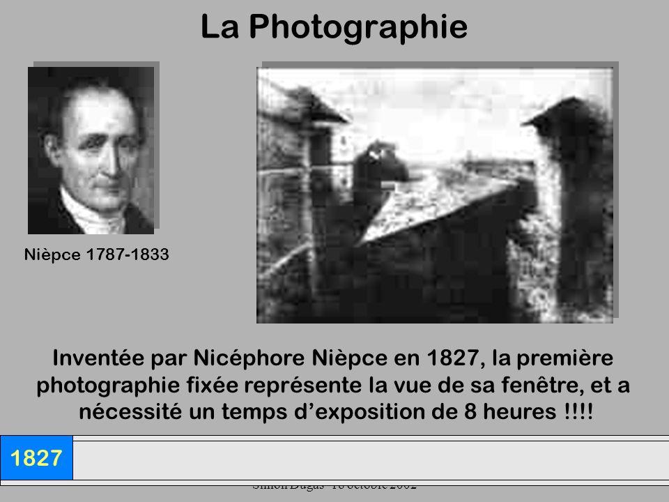 La Photographie Inventée par Nicéphore Nièpce en 1827, la première