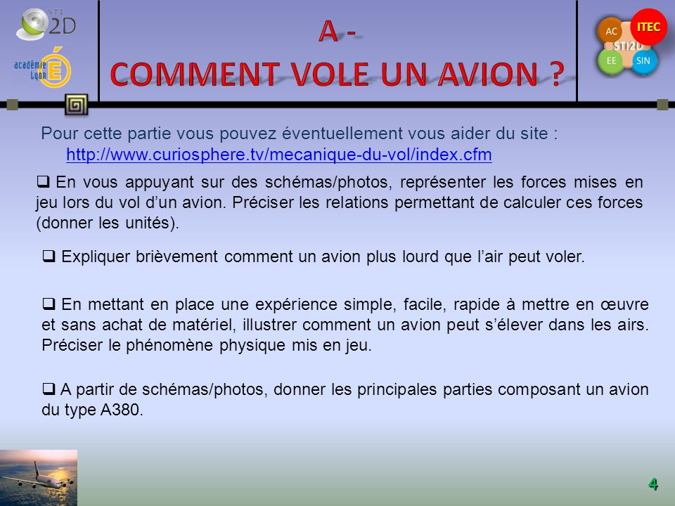 A - Comment vole un avion