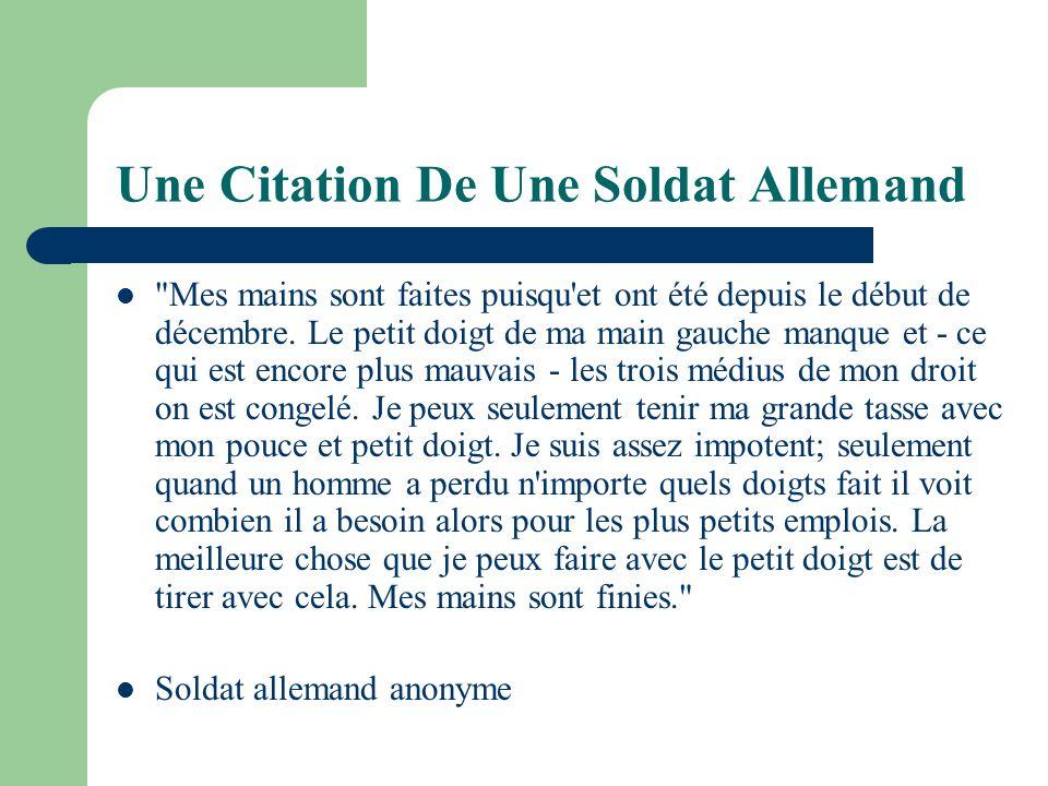 Une Citation De Une Soldat Allemand