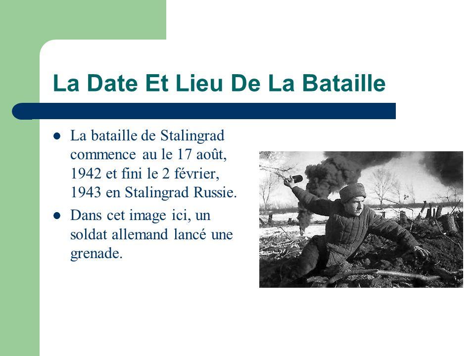 La Date Et Lieu De La Bataille