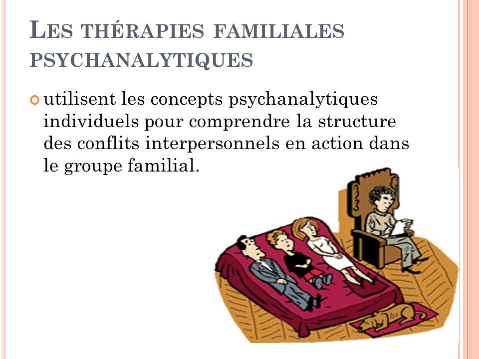 Les thérapies familiales psychanalytiques
