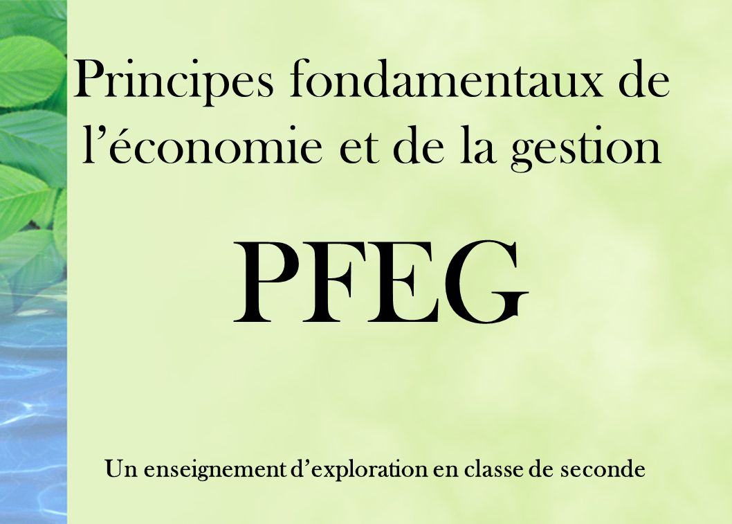 Un enseignement d'exploration en classe de seconde