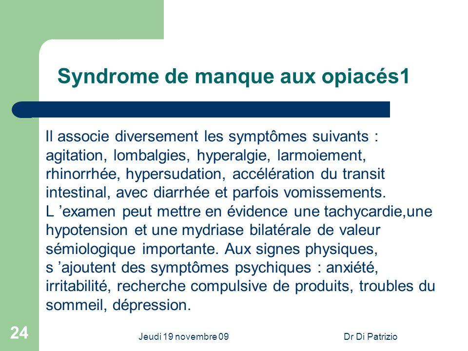 Syndrome de manque aux opiacés1