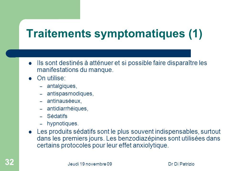 Traitements symptomatiques (1)