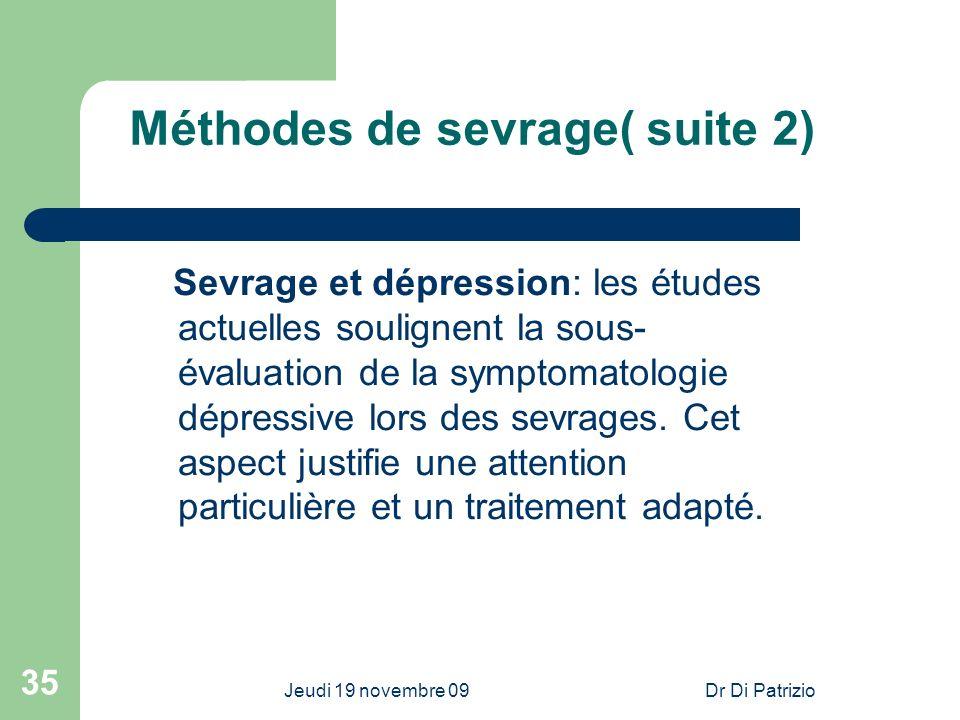 Méthodes de sevrage( suite 2)