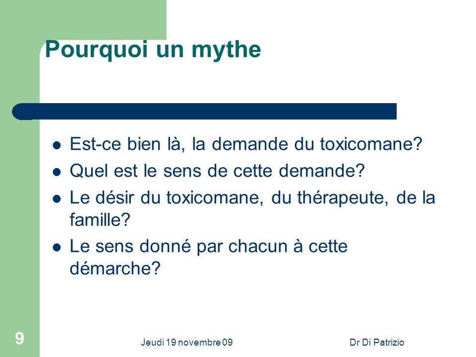 Pourquoi un mythe Est-ce bien là, la demande du toxicomane