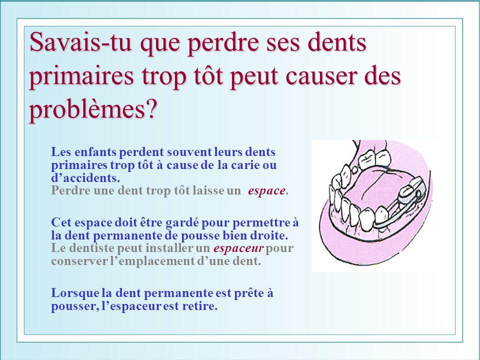 Savais-tu que perdre ses dents primaires trop tôt peut causer des problèmes