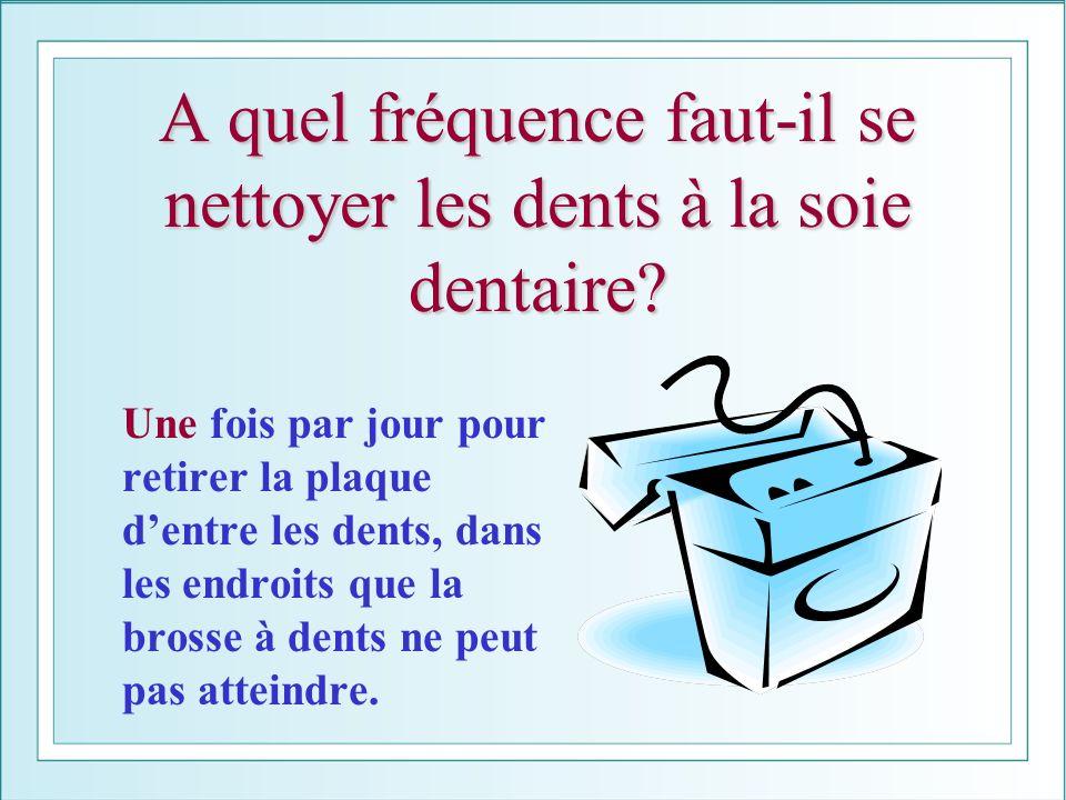 A quel fréquence faut-il se nettoyer les dents à la soie dentaire