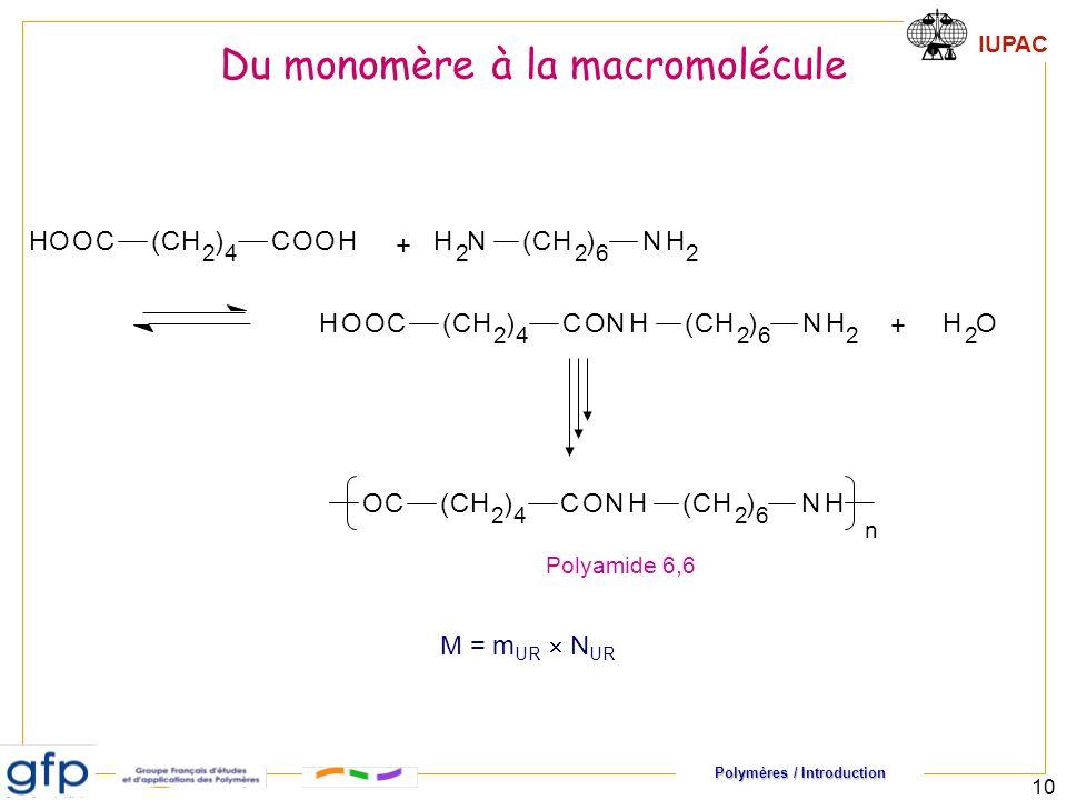 Du monomère à la macromolécule