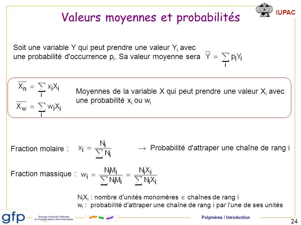 Valeurs moyennes et probabilités