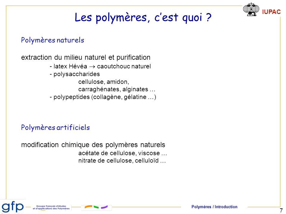 Les polymères, c'est quoi