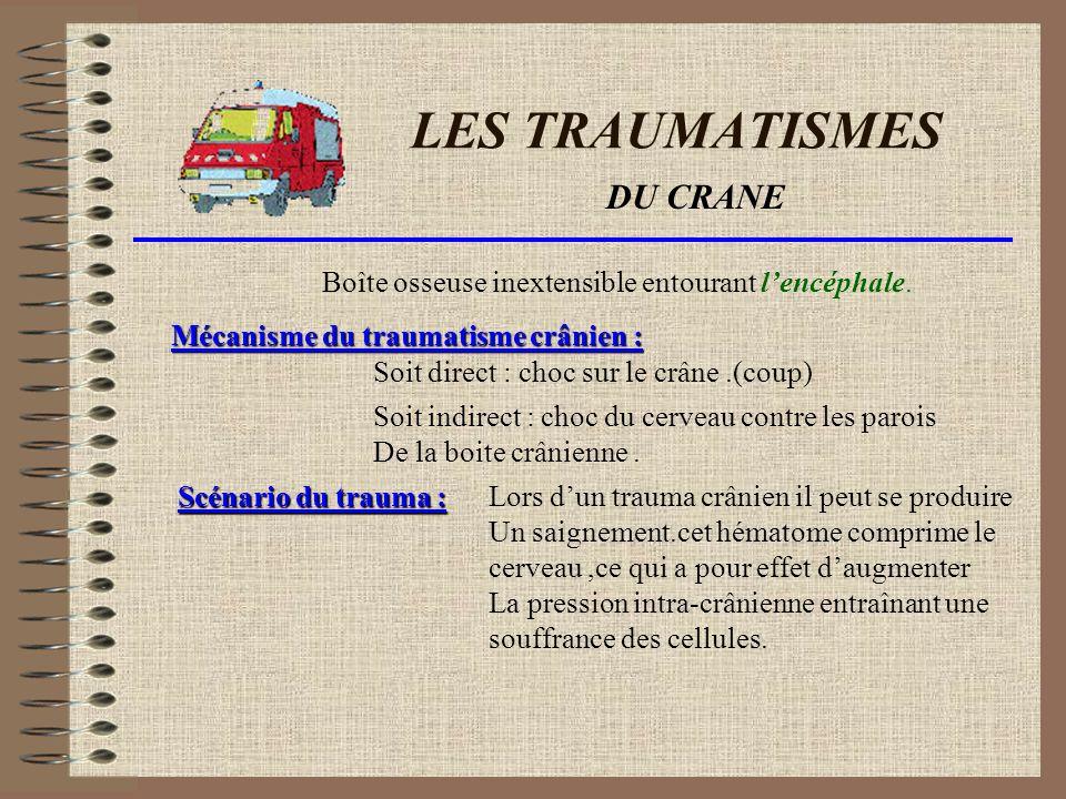 LES TRAUMATISMES DU CRANE