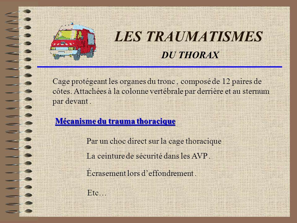 LES TRAUMATISMES DU THORAX