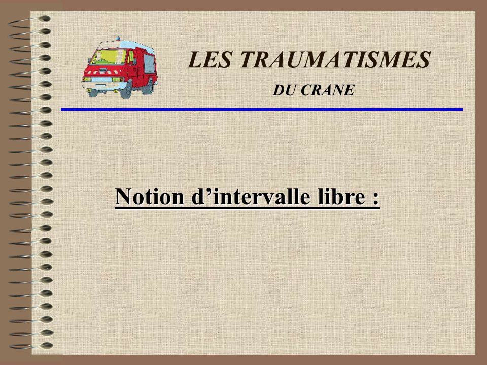 Notion d'intervalle libre :