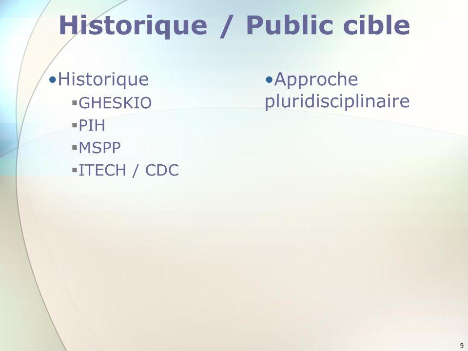 Historique / Public cible