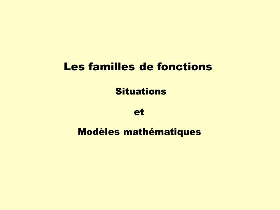 Les familles de fonctions