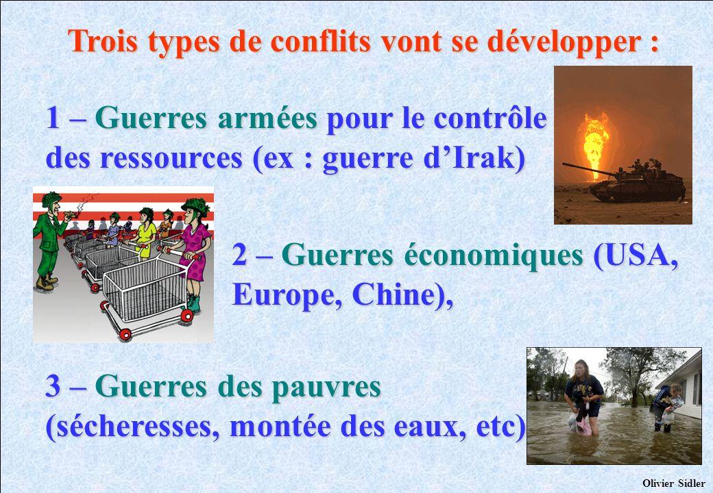Trois types de conflits vont se développer :