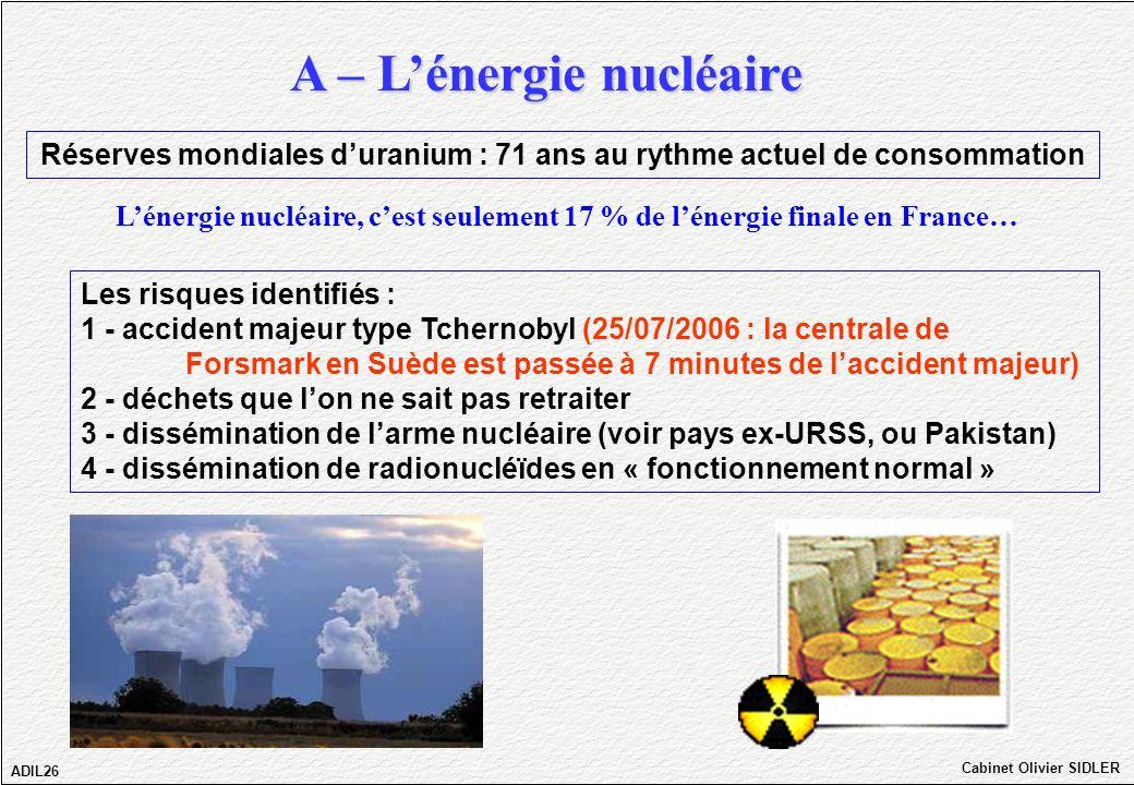 Réserves mondiales d'uranium : 71 ans au rythme actuel de consommation