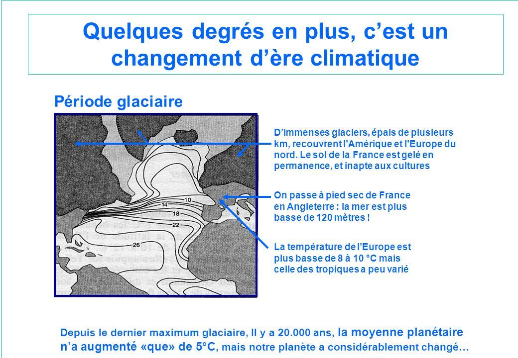 Quelques degrés en plus, c'est un changement d'ère climatique