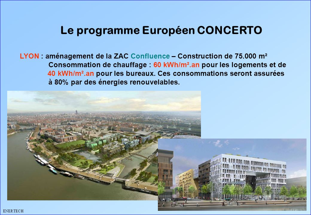 Le programme Européen CONCERTO