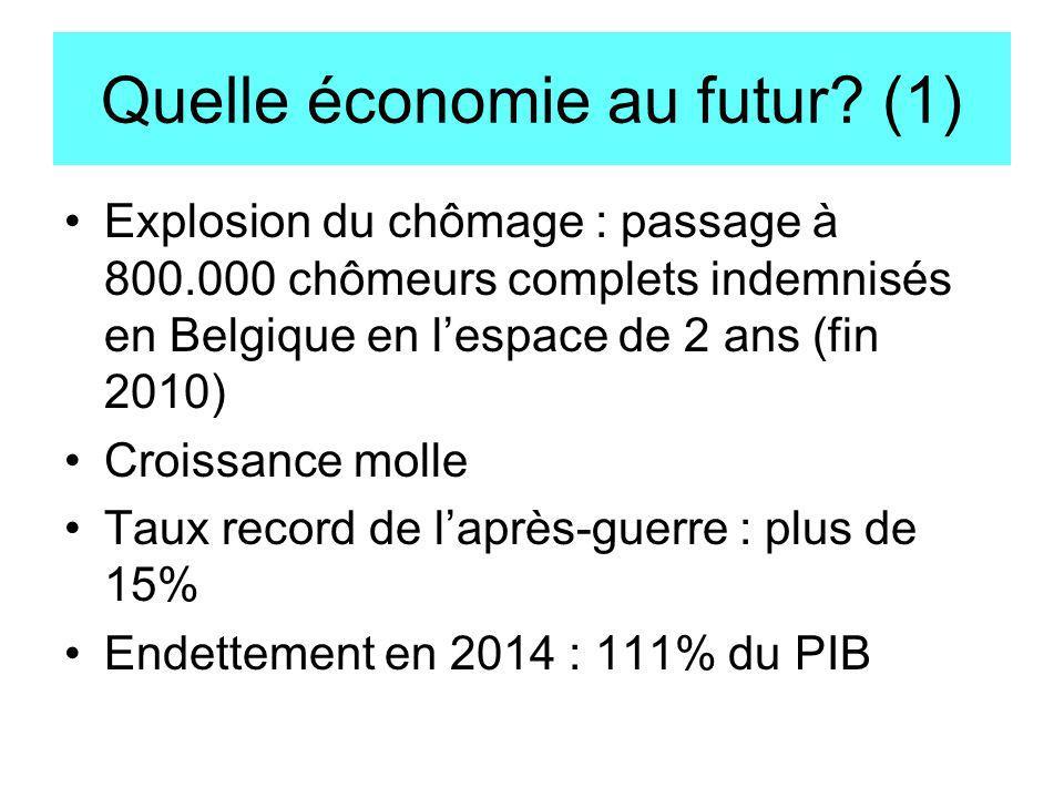 Quelle économie au futur (1)