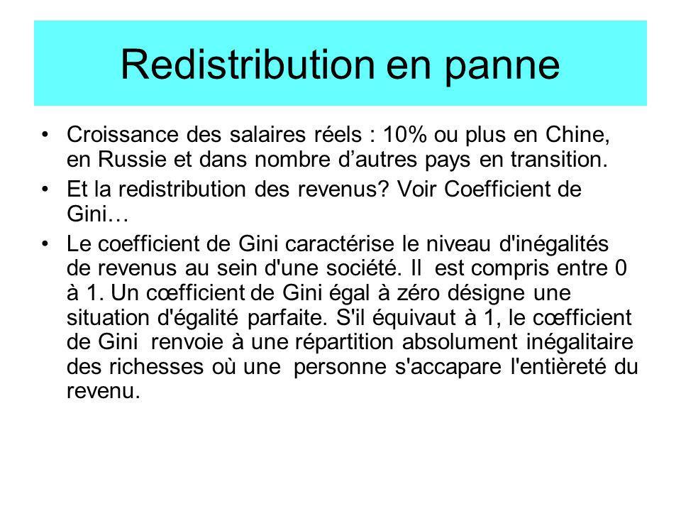 Redistribution en panne