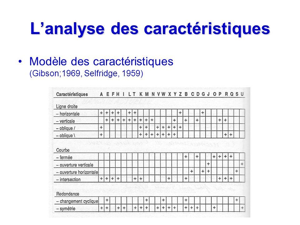 L'analyse des caractéristiques