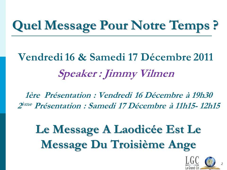 Vendredi 16 & Samedi 17 Décembre 2011