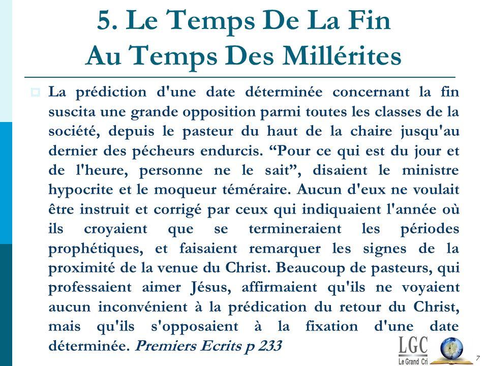 5. Le Temps De La Fin Au Temps Des Millérites