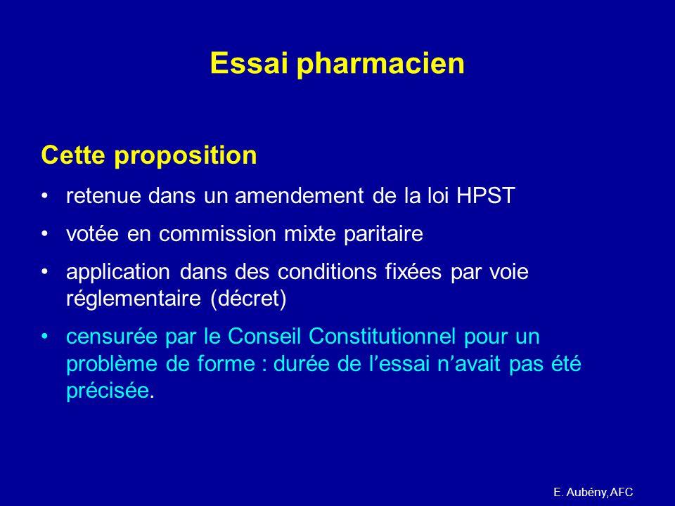 Essai pharmacien Cette proposition