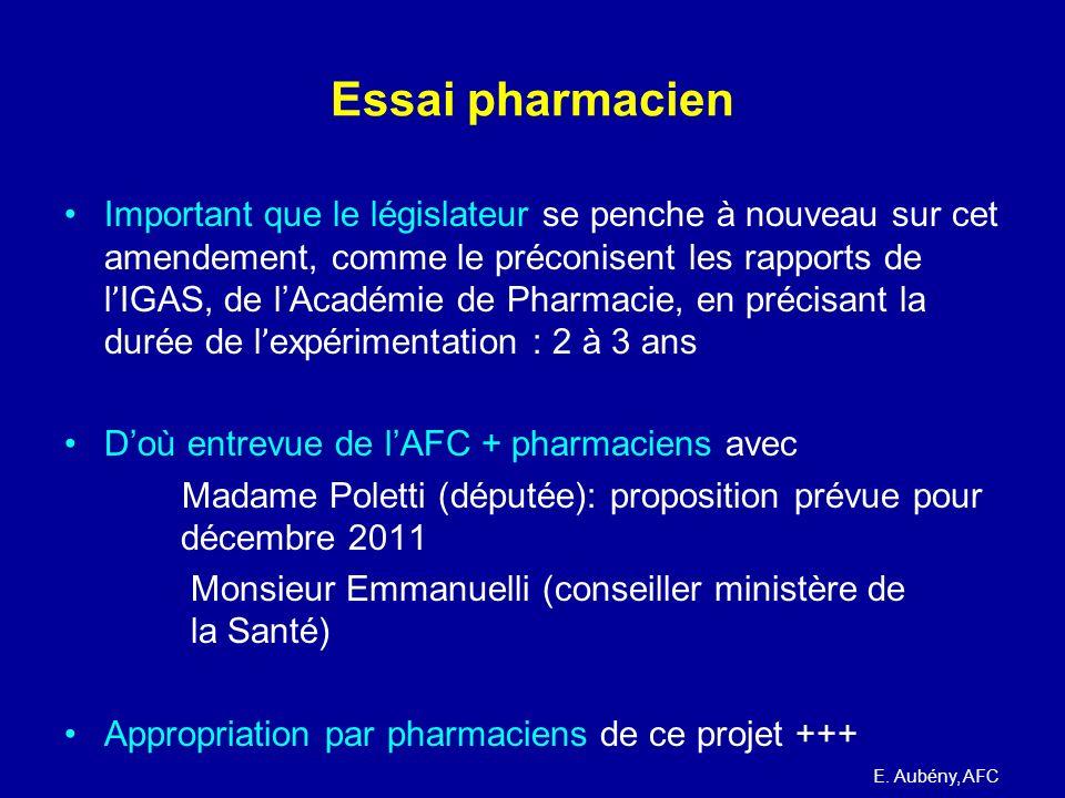 Essai pharmacien