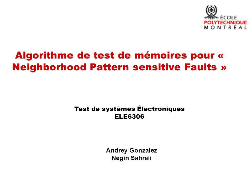 Test de systèmes Électroniques