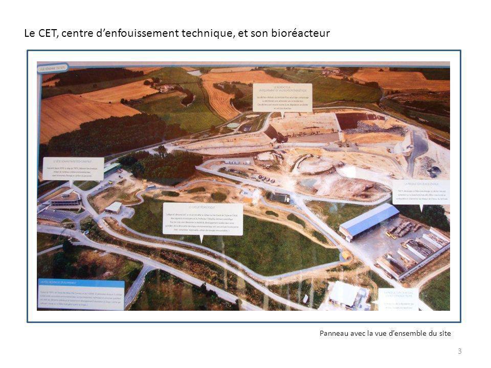 Le CET, centre d'enfouissement technique, et son bioréacteur