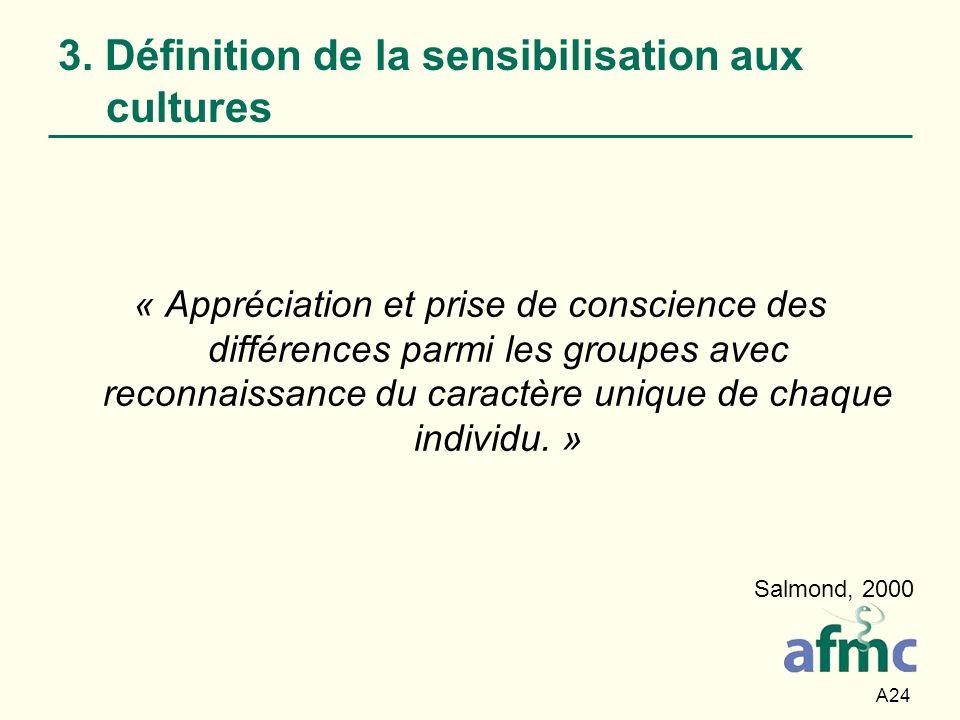 3. Définition de la sensibilisation aux cultures