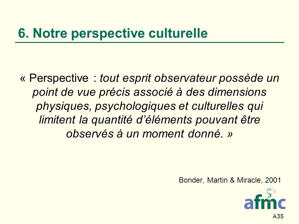 6. Notre perspective culturelle