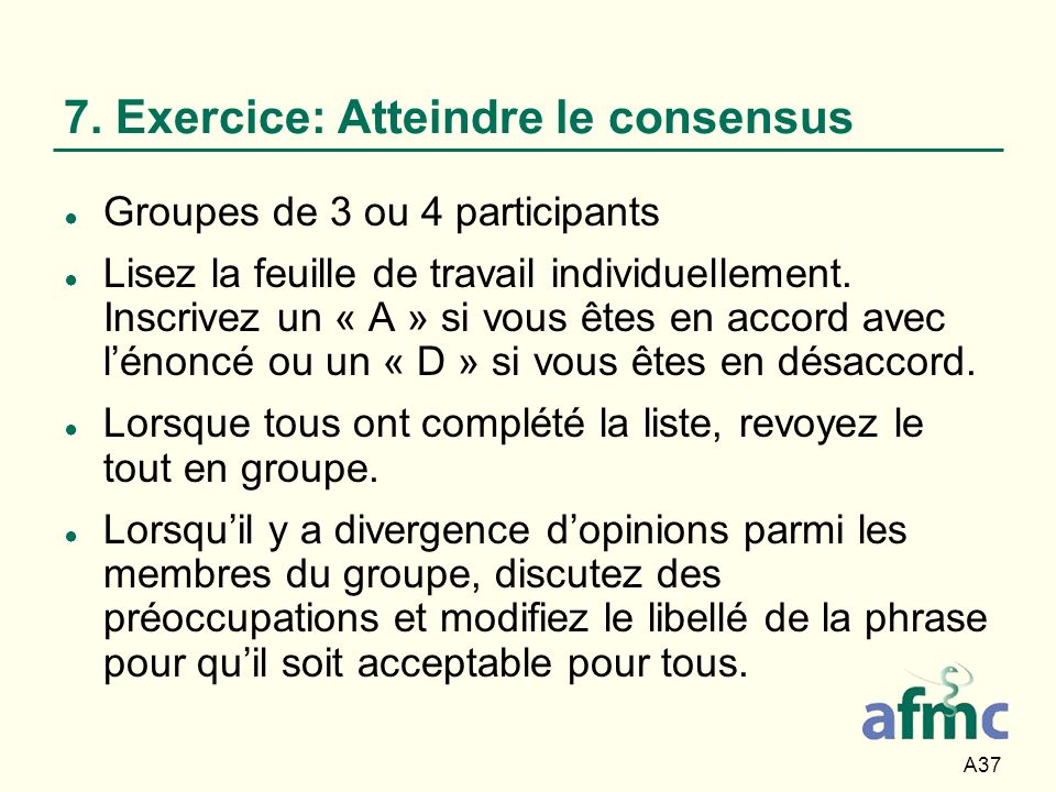 7. Exercice: Atteindre le consensus
