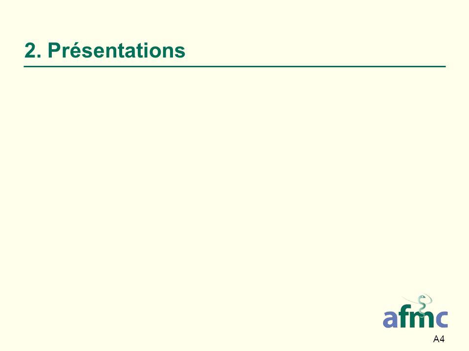 2. Présentations