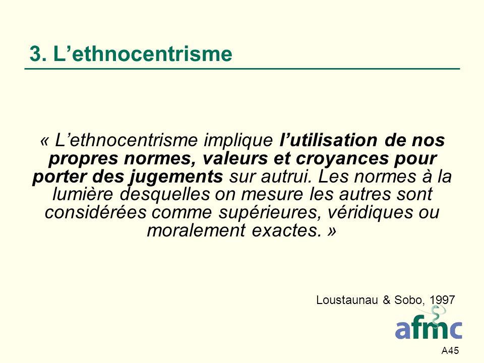 3. L'ethnocentrisme