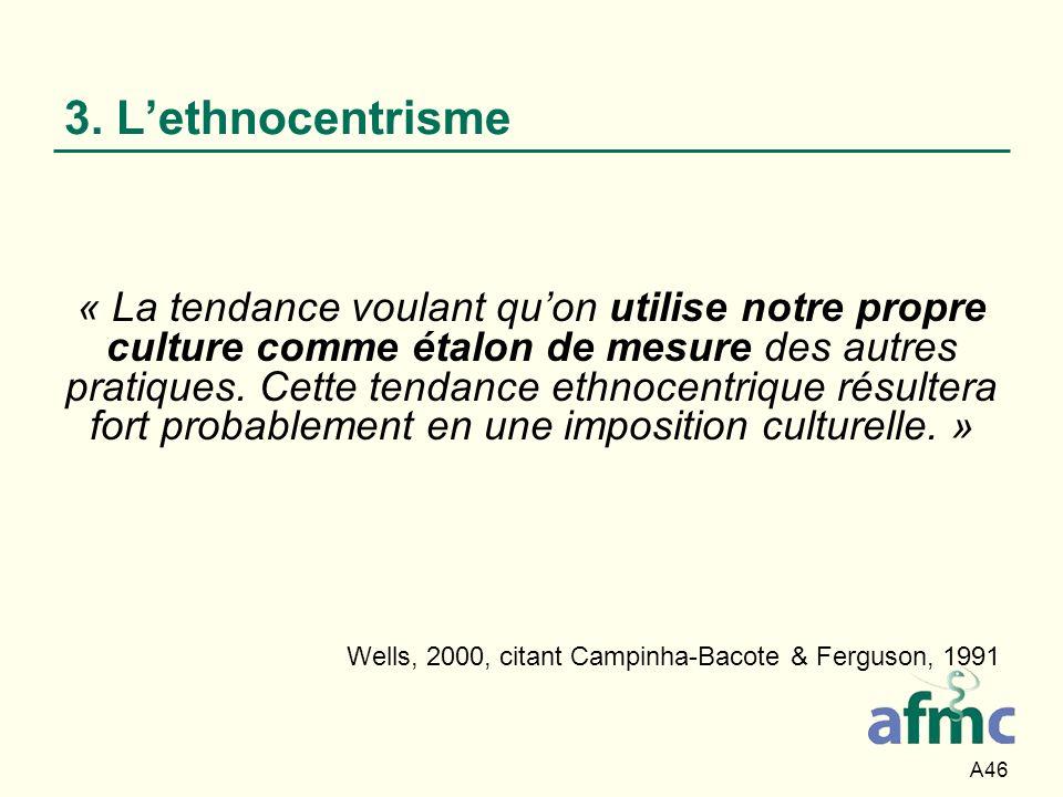 Wells, 2000, citant Campinha-Bacote & Ferguson, 1991