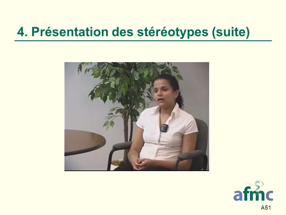 4. Présentation des stéréotypes (suite)