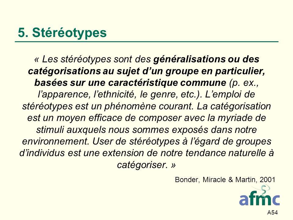 5. Stéréotypes