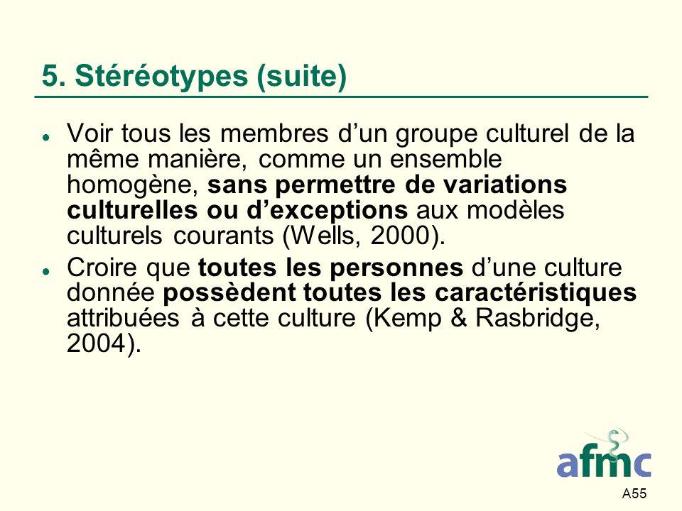 5. Stéréotypes (suite)