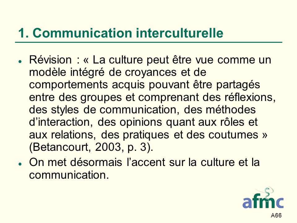 1. Communication interculturelle