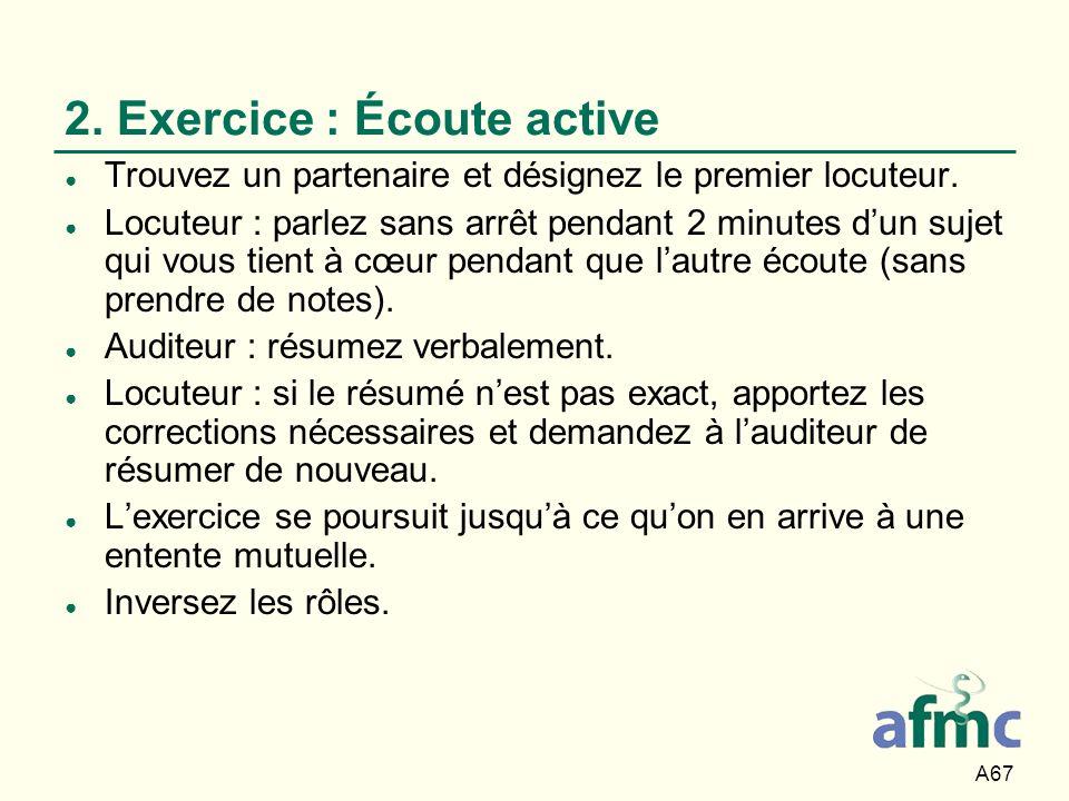 2. Exercice : Écoute active