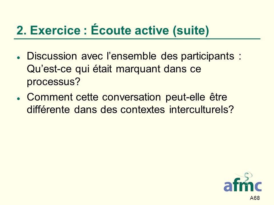 2. Exercice : Écoute active (suite)