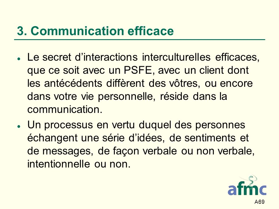 3. Communication efficace