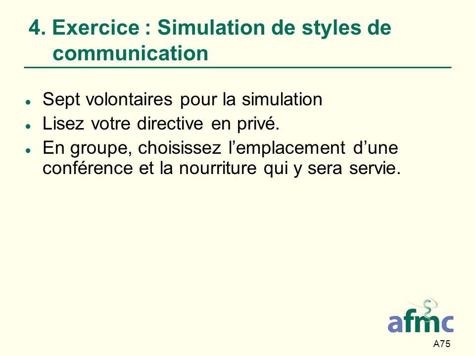 4. Exercice : Simulation de styles de communication