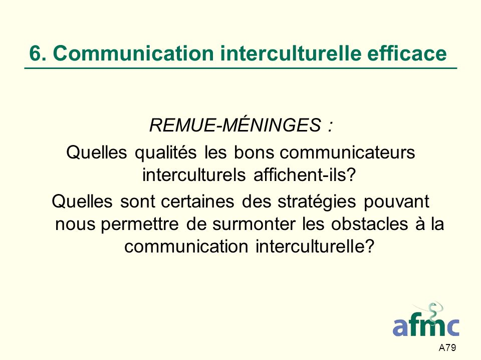 6. Communication interculturelle efficace